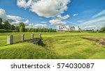 english summer panoramic... | Shutterstock . vector #574030087