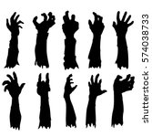 zombie hand silhouette clip art ... | Shutterstock .eps vector #574038733