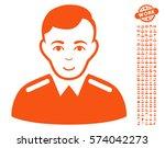 officer pictograph with bonus... | Shutterstock .eps vector #574042273
