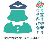 airline stewardess pictograph... | Shutterstock .eps vector #574063303