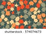 seamless pattern. asymmetric... | Shutterstock .eps vector #574074673