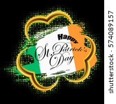 happy st. patricks day gold... | Shutterstock .eps vector #574089157