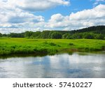 River And Green Meadow