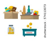 donate help symbols vector... | Shutterstock .eps vector #574113073