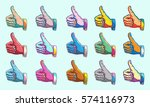 agreement thumbs up symbol... | Shutterstock .eps vector #574116973