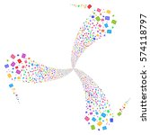 shekel fireworks swirl rotation.... | Shutterstock .eps vector #574118797