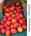 display of fresh nectarines - stock photo
