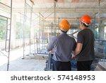 construction concepts  engineer ... | Shutterstock . vector #574148953