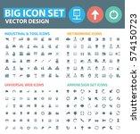 big icon set clean vector | Shutterstock .eps vector #574150723