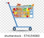 grocery cart | Shutterstock .eps vector #574154083