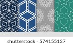 set of decorative floral... | Shutterstock .eps vector #574155127