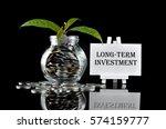 business concept   money in... | Shutterstock . vector #574159777