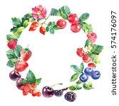 eco food organic cafe menu... | Shutterstock . vector #574176097