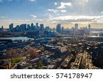 aerial view of boston from... | Shutterstock . vector #574178947