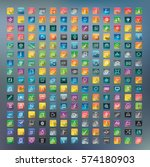 icon collection vector... | Shutterstock .eps vector #574180903