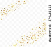 confetti cover from gold stars. ... | Shutterstock .eps vector #574185133