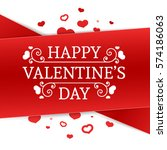 template design happy valentine'... | Shutterstock .eps vector #574186063