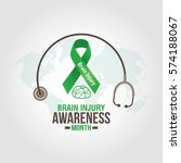 brain injury awareness month... | Shutterstock .eps vector #574188067