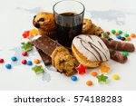 assortment of products with... | Shutterstock . vector #574188283