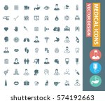 medical icon set clean vector | Shutterstock .eps vector #574192663
