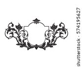 vintage baroque ornament retro... | Shutterstock .eps vector #574195627