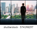 businessman standing  in a... | Shutterstock . vector #574198297