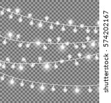 garlands with round bulbs on... | Shutterstock .eps vector #574202167