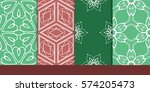 set of decorative floral... | Shutterstock .eps vector #574205473