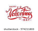 happy valentines day... | Shutterstock .eps vector #574211803
