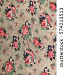 tropical pattern of batik... | Shutterstock . vector #574213513