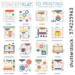 infographics mini concept 3d... | Shutterstock .eps vector #574225963