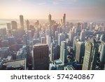chicago skyline  usa | Shutterstock . vector #574240867