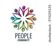 vector logo people | Shutterstock .eps vector #574255153