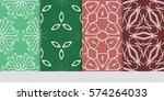 set of flower  geometric... | Shutterstock .eps vector #574264033