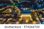 night cityscape at songdo...   Shutterstock . vector #574266733
