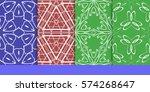 set of decorative floral... | Shutterstock .eps vector #574268647