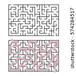 vector labyrinth 80. maze  ... | Shutterstock .eps vector #574284517