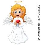 vector illustration of angel...   Shutterstock .eps vector #574292167