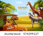 safari colored poster with big... | Shutterstock .eps vector #574299127