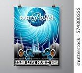 vector party flyer design with...   Shutterstock .eps vector #574300333