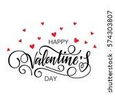 happy valentine's day vector... | Shutterstock .eps vector #574303807