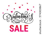 valentine's day sale vector... | Shutterstock .eps vector #574303867