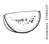quarter slice of ripe... | Shutterstock .eps vector #574304137