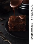 Chocolate Cake On Dark...