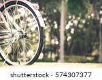 close up of part of vintage... | Shutterstock . vector #574307377