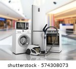 home appliances group of white... | Shutterstock . vector #574308073