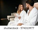 couple enjoying wellness...   Shutterstock . vector #574313977