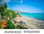 seaside resort | Shutterstock . vector #574319353
