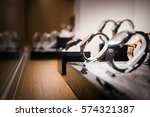 wrist watches in a luxury store | Shutterstock . vector #574321387