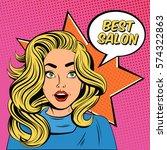 hairdresser salon comics style...